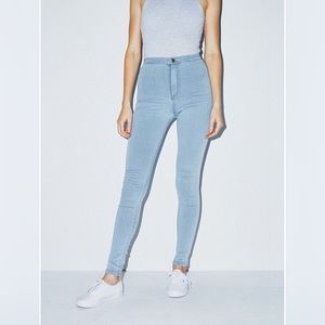 American Apparel The Easy Jean Light Wash Stretch